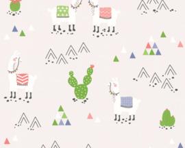 AS Creation Boys & Girls6 Behang 36985-3 Alpaca/Lama/Cactus/Bergen/Kinderkamer