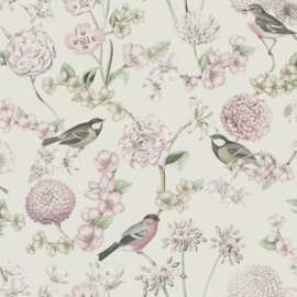 Dutch Wallcoverings Escapade Behang L78803 Vogels/Bloemen/Botanisch/Romantisch