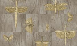 Arte Ligna Behang 42002 Wings/Insecten/Exclusieve Wandbekleding