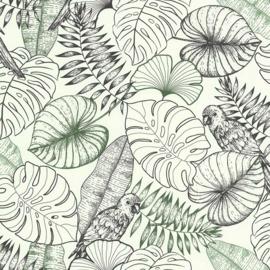 Noordwand Sejours & Chambres Behang 51193409 Botanisch/Natuurlijk/Bladeren/Jute Structuur