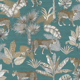 Dutch Wallcoverings Jungle Fever Behang JF2104 Leopard/Luipaard/Botanisch/Planten/Dieren