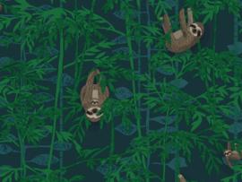 BN Wallcoverings Doodleedo Behang 220713 Hanging in there/Luiaard/Kids/Tropical/Dieren/Kinderkamer