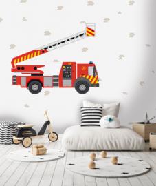 Behangexpresse Kate & Andy Fotobehang INK7437 Fire Fire/Brandweerwagen/Auto/Kinderkamer Behang