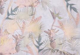 Komar Stories 8-212 Tropical Concrete/Botanisch/Tropisch/Fruit Fotobehang -Noordwand