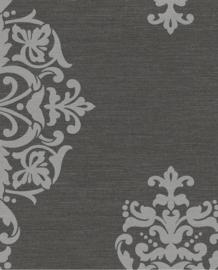 Eijffinger Charm Behang 331212 Ornament/Barok/Zwart/Zilver