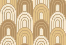 Hookedonwalls Boheme Behang BO23050 Art Deco/Modern/Grafisch/Bogen