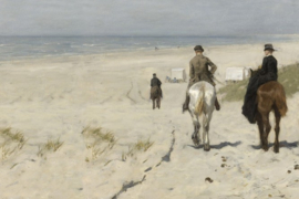 BN Studios/BN Wallcoverings Fotobehang 30565 Famous Painters/Morning Ride along the Beach/Strand/Paarden