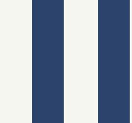 Dutch Wallcoverings Navy,Grey & White Behang BL72512 Strepen/Landelijk/Blauw