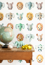 Studio Ditte Behang Wilde dieren cool/Wild Animals Cool