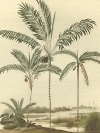 Eijffinger Oasis Fotobehang 317406 Palm Portrait/Palmbomen/Tropisch/Natural