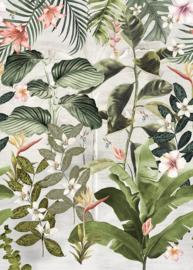 Behangexpresse Floral- Utopia Fotobehang Magufuli Green INK7556 Tropisch/Bladeren/Colibri/Vogels