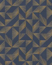 @Walls Schoner Wohnen/New Modern Behang 31844 Luce/Grafisch/Modern/Blauw/Goud
