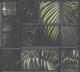 AS Creation Industrial Behang 37740-3 Botanisch/Venster/Bladeren/Modern/Natuurlijk