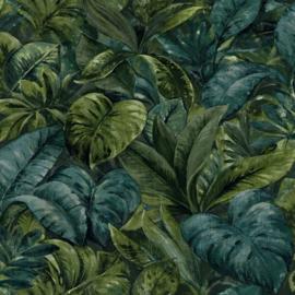 Dutch Wallcoverings/First Class Utopia Behang 91111 Anori Green/Botanisch/Bladeren