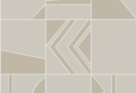 Hookedonwalls Tinted Tiles Behang  29044 Groove/Modern/Grafisch