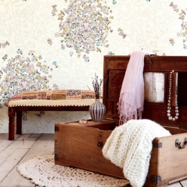 Eijffinger Raval Behang 341587 Bouquets Blush/ Bloemen/Romantisch/Floral/Fotobehang
