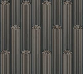 AS Creation New Life Behang 37673-3 Modern/Art Deco/Bogen/Zwart