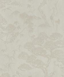 BN Wallcoverings/Voca Zen Behang 220272 Crane Dance/Kraanvogel/Botanisch/Natuurlijk