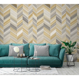 Dutch Wallcoverings One Roll One Motif Behang IW2301 Chevron/Visgraat/Landelijk/Modern