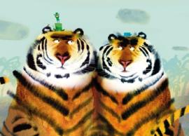 KEK Amsterdam Kids Fotobehang WS-096 Two Tigers/Twee Tijgers/Dieren/Kinderkamer Behang