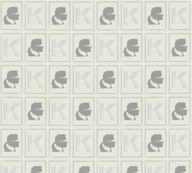 AS Creation Karl Lagerfeld Behang 37842-2 Logo/Letter K/Modern/Bril