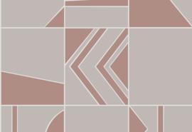 Hookedonwalls Tinted Tiles Behang 29041 Groove/Modern/Grafisch