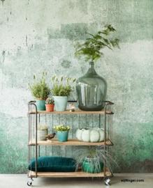 Eijffinger Resource  Behang 369151 Green Weathered Wall/Modern/Industrieel Fotobehang