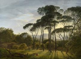 BN Studios/BN Wallcoverings Fotobehang 30566 Famous Painters/Italian Landscape with Umbrella Pines/Landschap/Bomen
