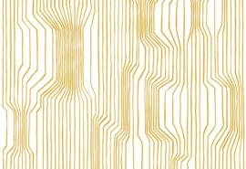 Hookedonwalls Marimekko Behang 23367 Frekvenssi/Grafisch/Modern/Lijnen/Goud