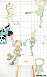 Eijffinger Wallpower Junior Behang 364101 Cuddles Notebook/Pastel/Kinderkamer Fotobehang