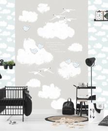 Behangexpresse Kay & Liv INK7023 Wolken/Vogels/Baby/Peuter/Kleuter Fotobehang