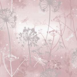 Arthouse Fantasia Behang 692305 Damselfly Blush/Planten/Natuur/Libelle