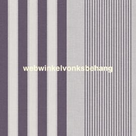 Eijffinger Stripes+  Behang. 377102 Strepen/Grijs/Aubergine