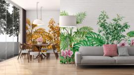 AS Creation Designwalls Fotobehang DD118530 Tropical Wall 1/Botanisch/Bladeren/Bloemen/Bakstenen Behang