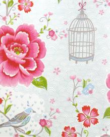 Eijffinger Pip Studio 5 Behang 300161 Bloemen/Romantisch/Landelijk/Vogels/Vogelkooi/Kinderkamer