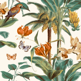 Dutch Wallcoverings Jungle Fever Behang JF2002 Tropical/Botanisch/Dieren/Vogels/Planten