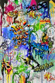 Behangexpresse ColorChoc Behang INK6071 Graffiti/Stoer/Tiener/Kinder Fotobehang