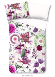 Muller Textiles Dekbedovertrek 2126 Flora White/Botanisch/Bloemen/Vogels