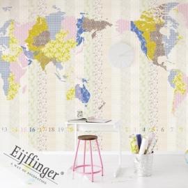 Eijffinger Wallpower Wonders Behang 321568 Times New Romance/Wereldkaart/Map/Peuter/Kleuter Fotobehang