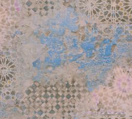AS Creation Metropolitan Stories II Behang 37858-1 Antonio/Barcelona/Spaanse tegels/Vintage/Verweerd/Natuurlijk