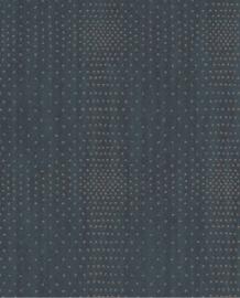 Eijffinger Topaz Behang 394512 Landelijk/Ruit/Stippen/Chic/Metallic/Blauw