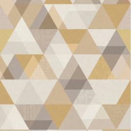 Dutch Wallcoverings One Roll One Motif Behang IW2401 Triangle/Driehoek/Modern