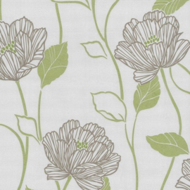 Behangexpresse Lime Groen Behang 13101-30  Bloemen/Modern/Romantisch