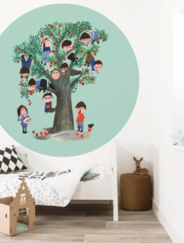 Kek Circle Apple Tree Behang CK-016 Fotobehang/Kek Kids Amsterdam/Kinderkamer