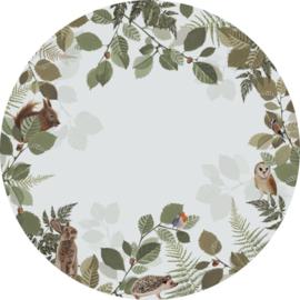 Esta Home Forest Friends Zelfklevende Behangcirkel/Circle 159082 Forest Animals/Bosdieren