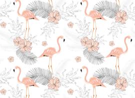 AS Creation Designwalls Fotobehang DD118582 Tropical Vibes 2/Flamingo/Vogels/Botanical