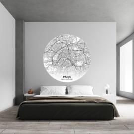 Noordwand Topchic 2021/2023 City Circles Behang  Parijs CCP33/Steden/Plattegrond