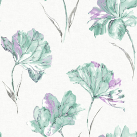 Dutch Wallcoverings First Class Elements Behang 90482 Azalea Lilac/Bloemen/Modern