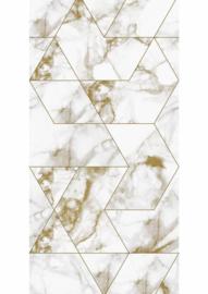 Kek Amsterdam Marble Gold 2D Fotobehang WP-576 Marmer/Grafisch/Modern/Goud