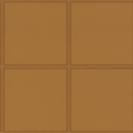 Rasch Club Behang 419016 Leer effect/Modern/Blokken/Vlakken/Stiksels/Goud
